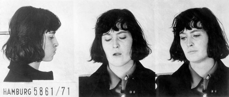 RAF-terroriste Margrit Schiller in 1971 Beeld ullstein bild via Getty Images