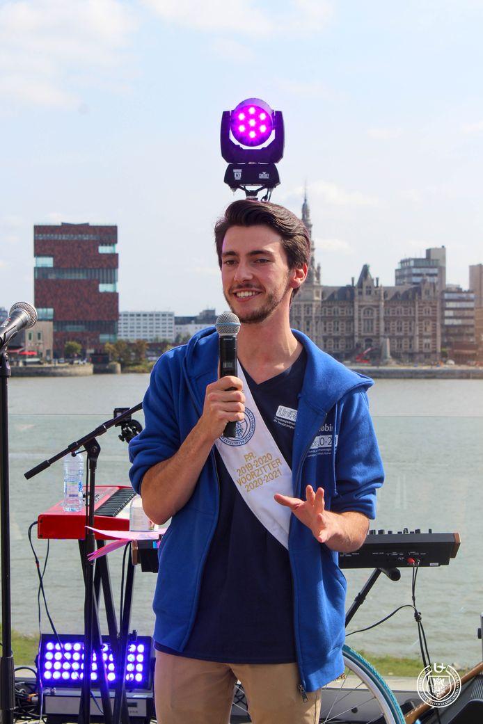 Robin Boel, de voorzitter van studentenvereniging Unifac.