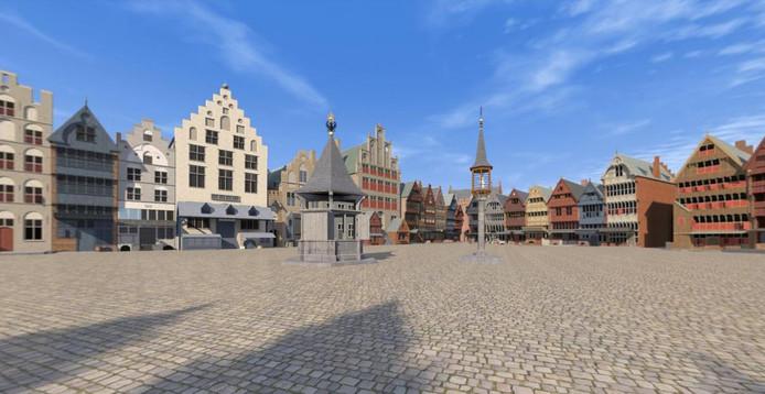 Blik op de Markt in 1500