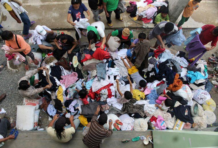 De tyfoon Mangkhut dwong inwoners van de Filippijnen tot evacuatie. Beeld null
