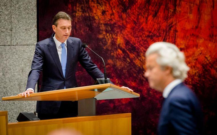 VVD'er Zijlstra in debat met Wilders. Beeld anp