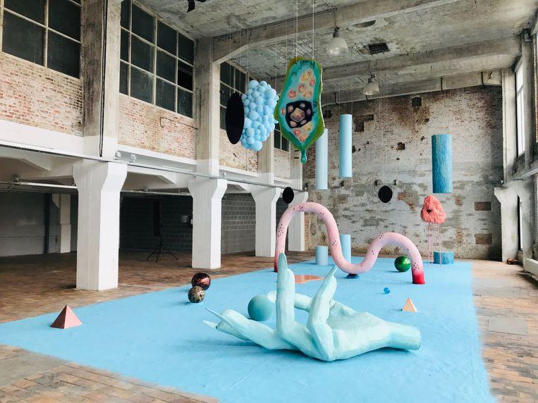 Werk van Tai Shani in SUBB in Aalst.