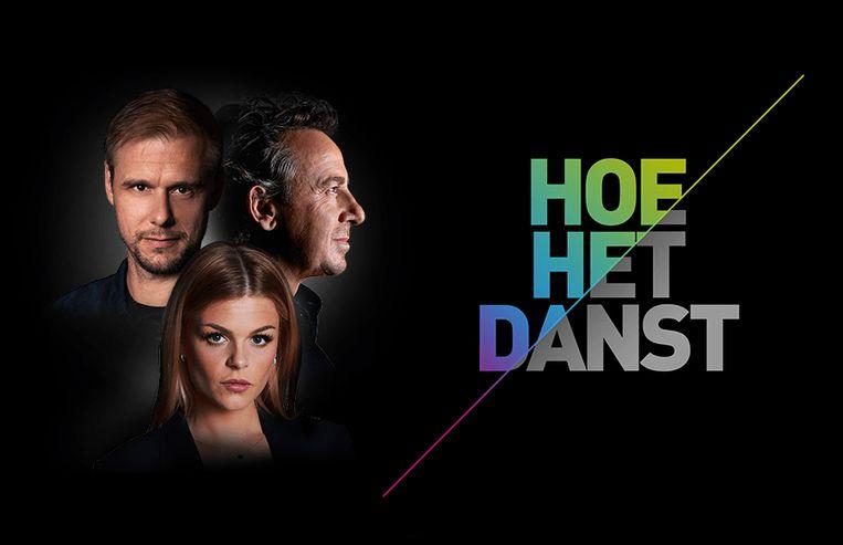 Marco Borsato, Armin Van Buuren en Davina Michelle, die samen 'Hoe Het Danst' maakten.
