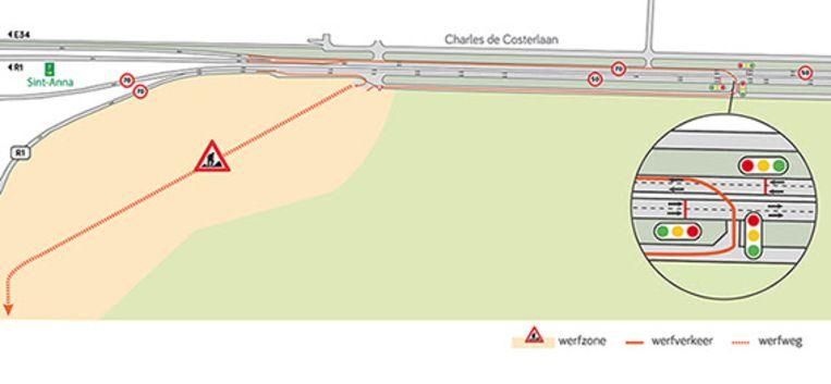 De werfweg moeten ervoor zorgen dat het werfverkeer geen extra verkeersdruk met zich meebrengen