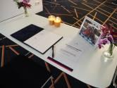 Condoleance voor omgebrachte Ab en Geke in gemeentehuis in Hengelo