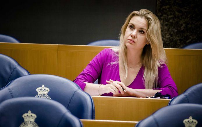 Tweede Kamerlid Femke Merel van Kooten tijdens een debat.