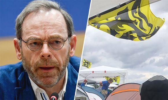 N-VA-Kamerfractieleider Peter De Roover eist excuses van de Pukkelpop-organisatie.