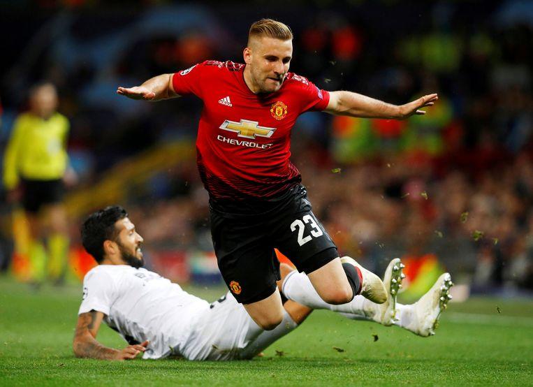 Luke Shaw speelt sinds 2014 voor Manchester United.