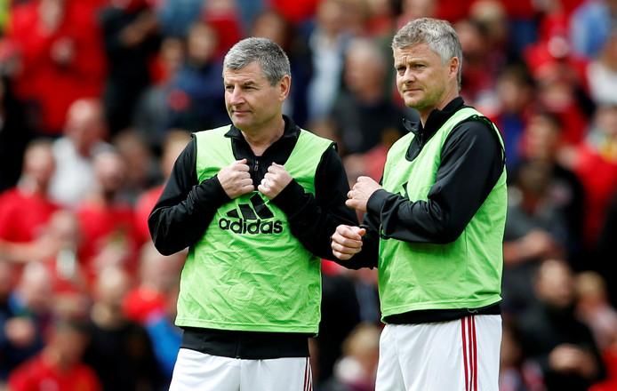 Denis Irwin en huidig United-manager Ole Gunnar.