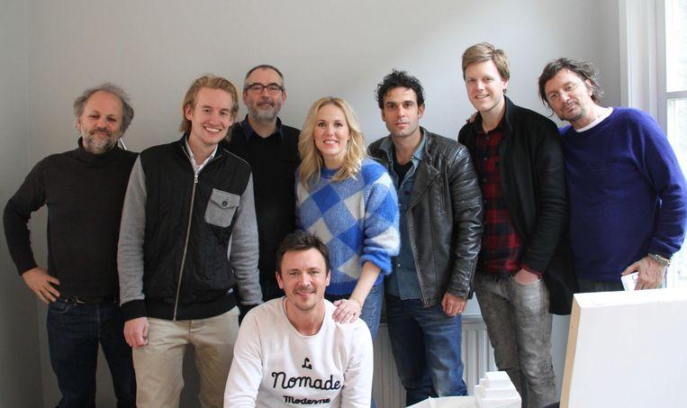 Jip Samhoud (tweede links) met de crew van de Virtual Reality film In Your Face Beeld &samhoud media