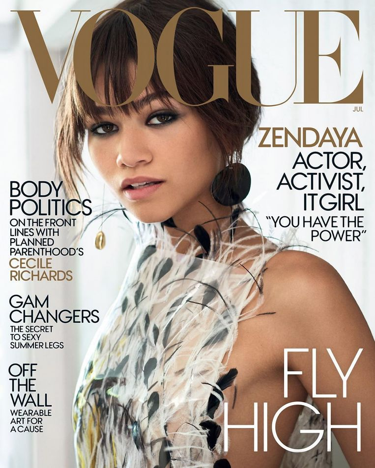 Op de cover van Vogue.