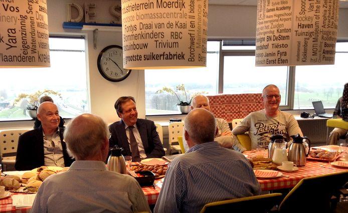 Alexander Pechtold van D66 schuift vandaag aan de Brabantse koffietafel op de redactie om in gesprek te gaan met lezers van BN DeStem, Brabants Dagblad en Eindhovens Dagblad.  Foto Alfred de Bruin