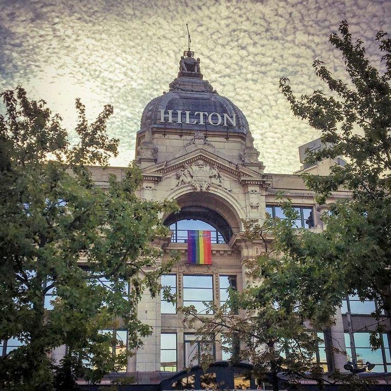 Het Hilton in Antwerpen.