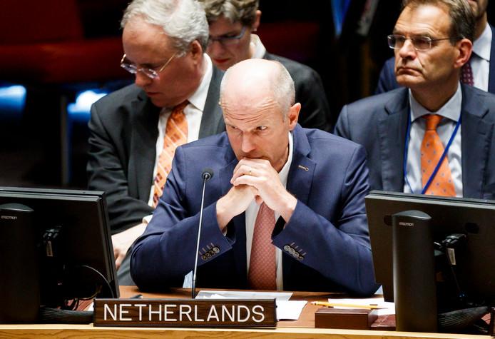 Stef Blok, minister van Buitenlandse Zaken, bij de Verenigde Naties.