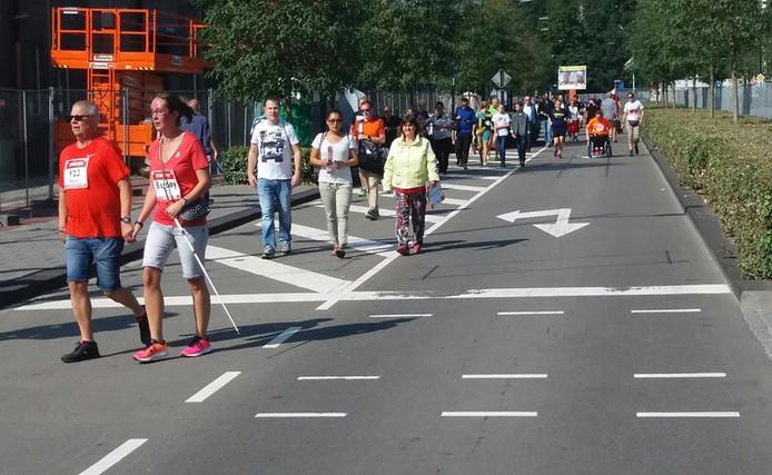 Aangepast meedoen aan een nieuw onderdeel op het 5 kilometer parcours