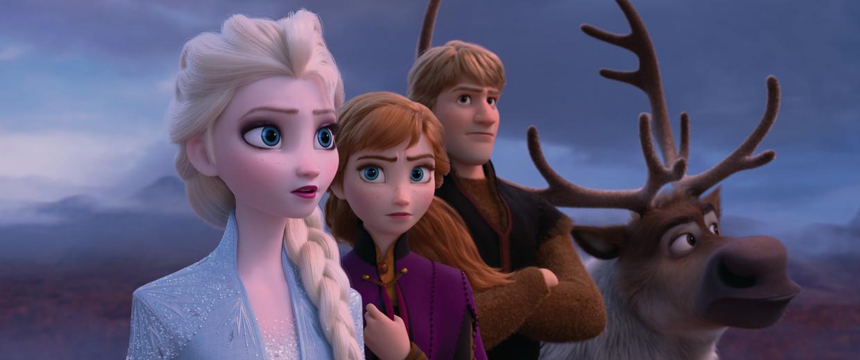 Elsa, Anna, Kristoff en Sven.