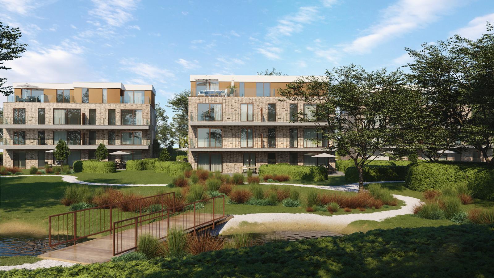 Een toekomstbeeld van woonproject De Heuvel