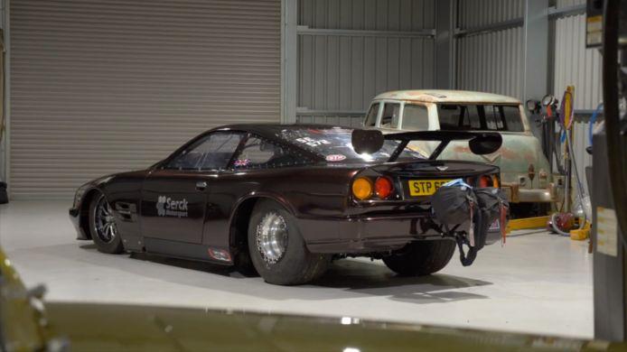Aston Martin Vantage dragracer.