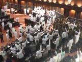 Parlementariërs Sri Lanka gaan op de vuist