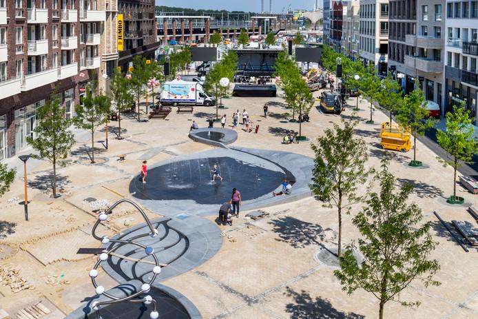Het Brusselplein in Leidsche Rijn Centrum.