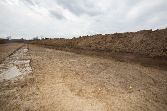 De resten van een waterput uit de bronstijd.