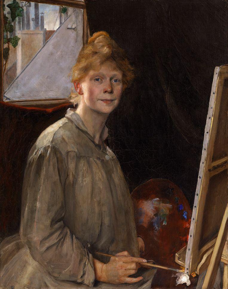 De vastberaden professionaliteit blijft fier staande, het springt er zelfs uit in een zaal vol portretten van meesterschilders. Beeld Museum Prins Eugens Waldemarsudde