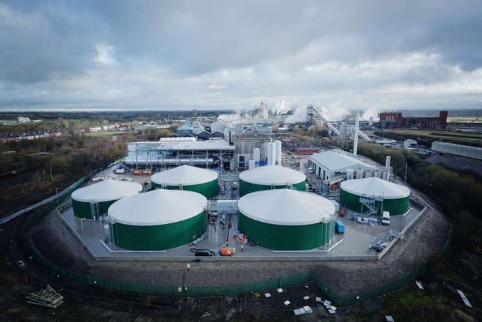 De afvalverwerkingsinstallatie van de firma Orsted bij Manchester. Orsted wil ook in Eindhoven zo'n installatie bouwen.
