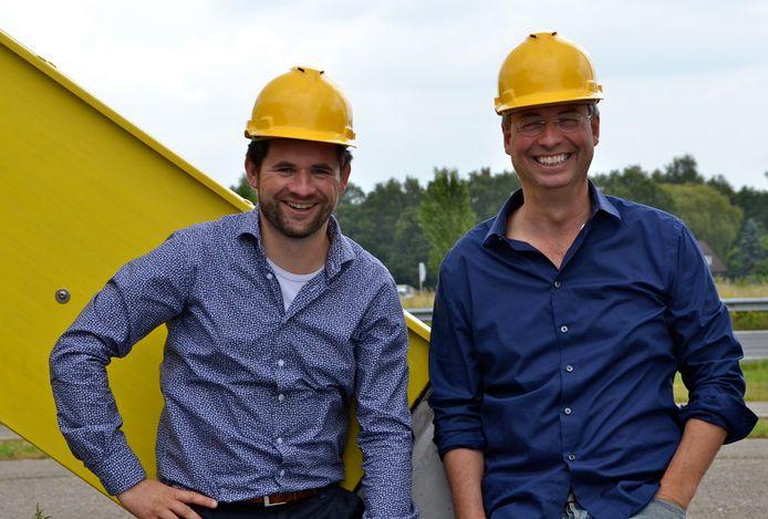 Fastned-ceo Michiel Langezaal met oprichter en groot aandeelhouder Bart Lubbers.