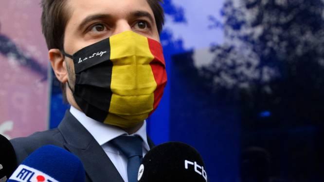 """Georges-Louis Bouchez (MR) wil snel strengere maatregelen: """"Algemene mondmaskerplicht en sportwedstrijden zonder publiek"""""""