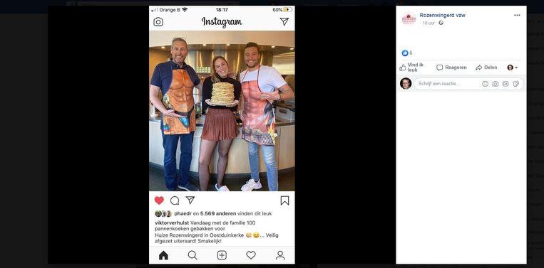 De foto die Viktor Verhulst postte op zijn Instagram werd gedeeld door Rozenwingerd