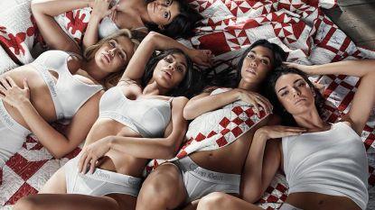 De zusjes Kardashian-Jenner schitteren in nieuwe Calvin Klein-campagne en jawel, Kylie verbergt haar buikje