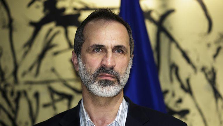 Oppositieleider Moaz al-Khatib Beeld getty