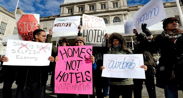 Demonstranten in New York. Beeld anp
