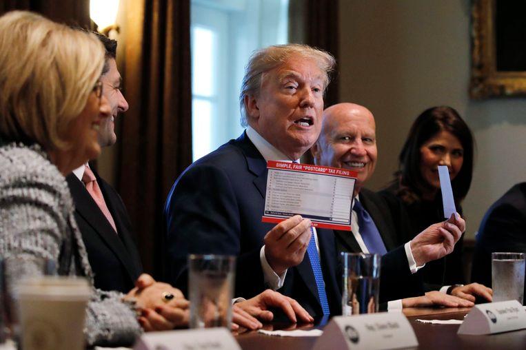 President Trump stelde het plan vandaag samen met partijgenoten voor in het Witte Huis.
