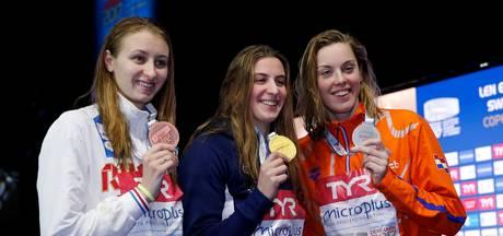 Femke Heemskerk blij met goud, zilver en een wereldrecord