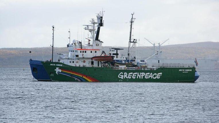 De Artic Sunrise van Greenpeace. Beeld afp