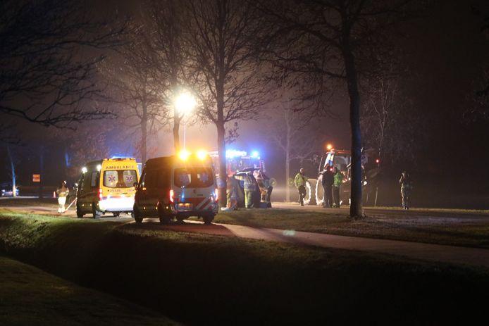 Ongeluk op de Kuinderweg (N351) tussen Kuinre en Emmeloord.