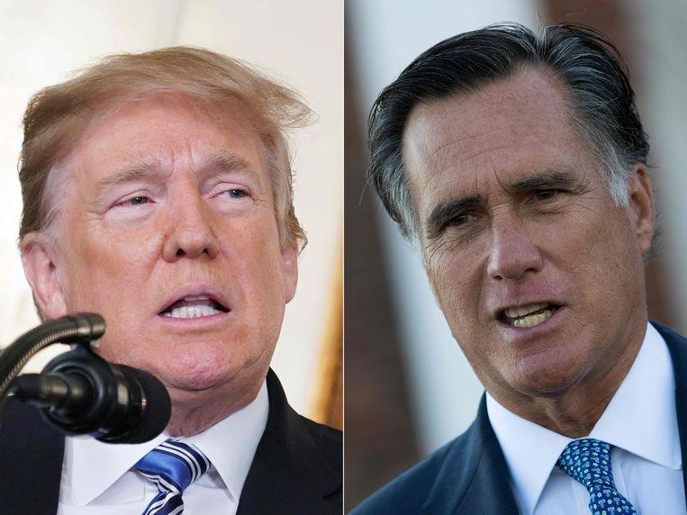 Mitt Romney (R) was tijdens de vorige presidentsverkiezingen de grootste uitdager van Trump bij de Republikeinse voorverkiezingen.