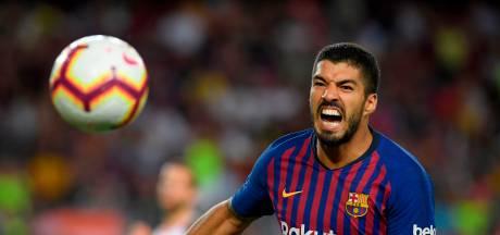 Suarez in 200 duels voor Barcelona 152 keer trefzeker