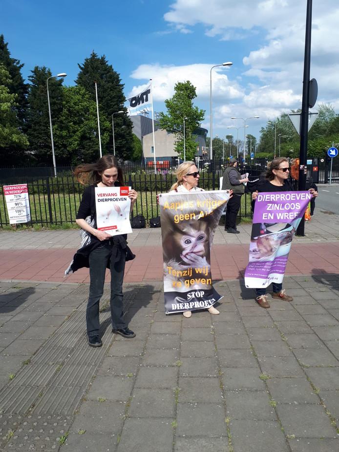 Demonstratie proefdierencentrum BPRC in Rijswijk