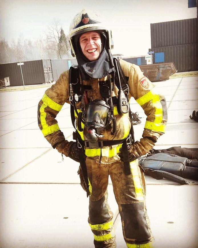 Vrijwillig brandweerman Jorn Hagen