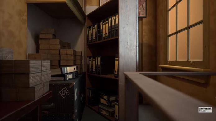 De boekenkast waar de ingang van het Achterhuis achter verborgen was.