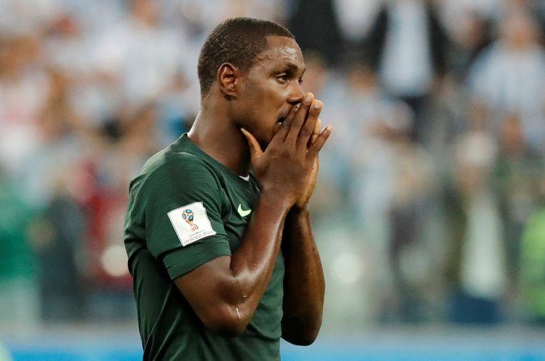 Odion Ighalo hier nog met Nigeria op het WK in Rusland
