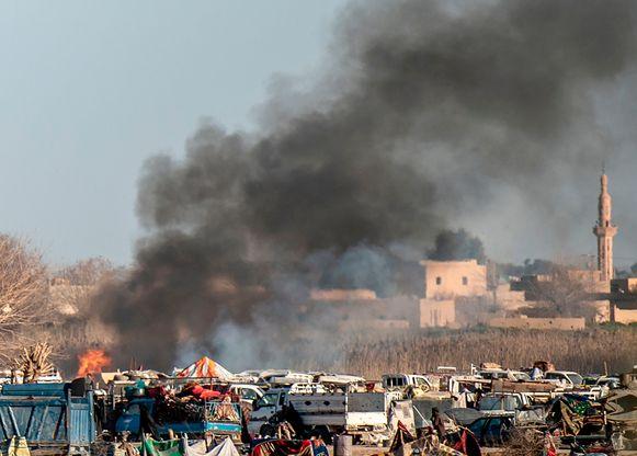 Het laatste bolwerk van IS in Baghouz.
