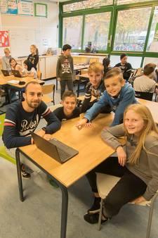 Groep 8 van basisschool De Schouw in Nieuwegein zet eigen bedrijf op