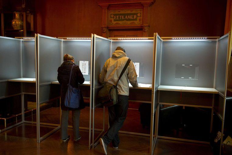 In Amsterdam konden Nederlanders in een restaurant gaan stemmen.