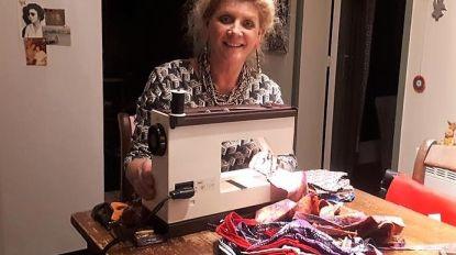 Dames van Ferm Veldwezelt maken mondmaskers voor wzc en UPZ Duffel