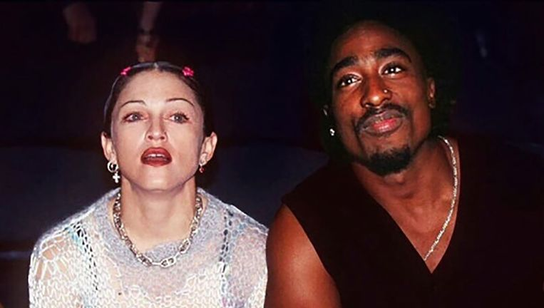 Madonna en Tupac Shakur. Beeld Getty