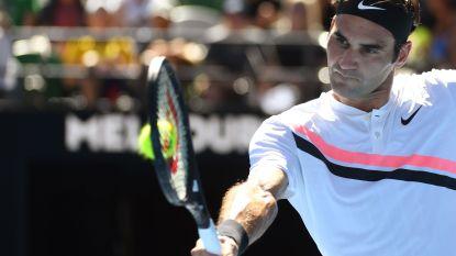 Federer gaat zonder energieverlies door - Kerber, Pliskova en Halep ook bij de laatste acht