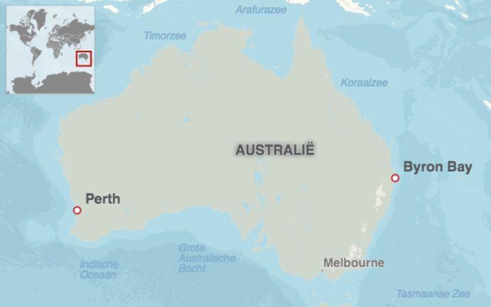 Byron Bay, waar Theo Hayez verdween, ligt in het uiterste oosten van Australië.